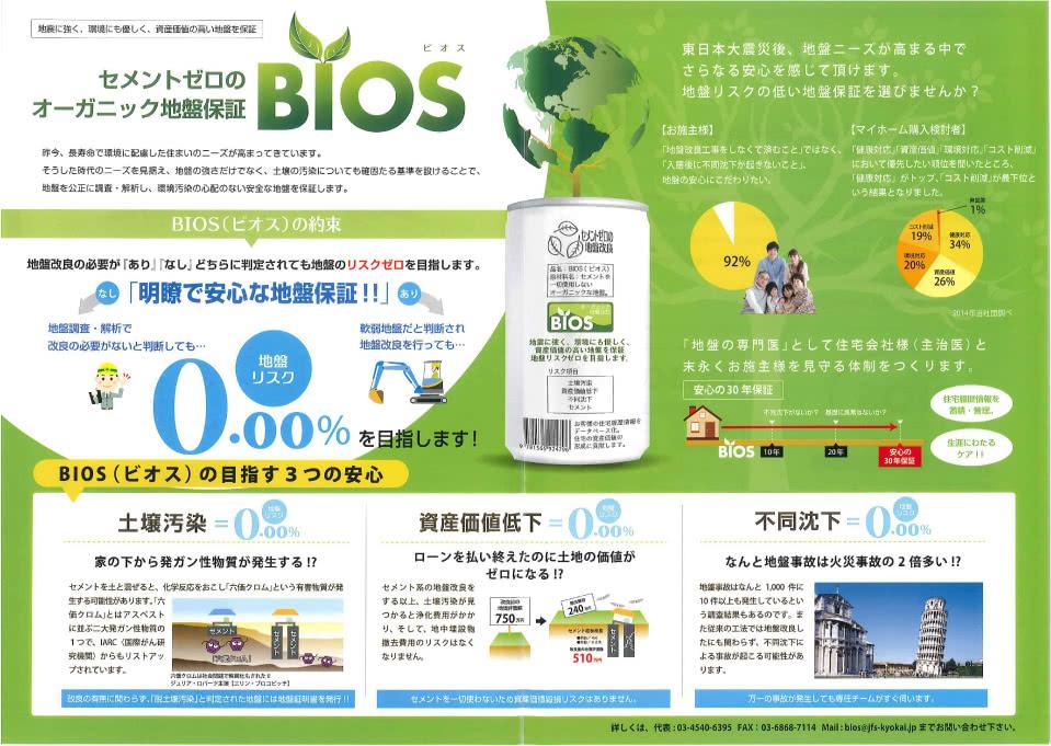 BIOS セメントゼロのオーガニック地盤保障